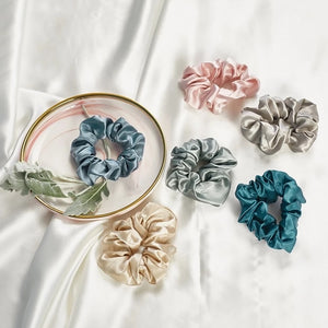 Larger Pure silk scrunchies (pack of 5)