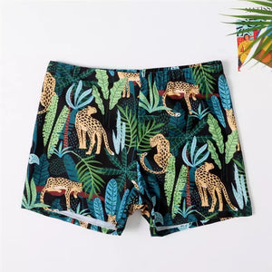 Leopard swim trunks