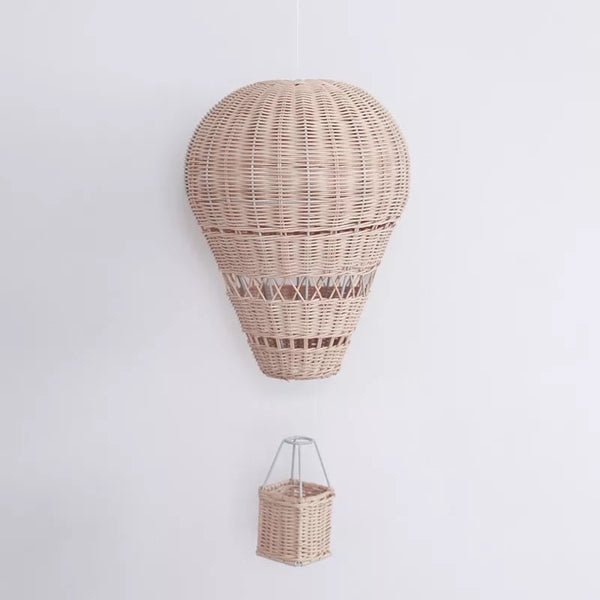 Hot air balloon wicker bedroom feature