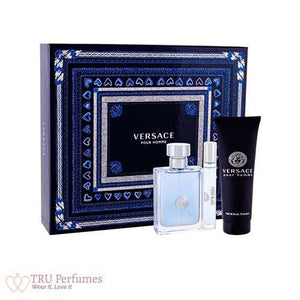 Versace Pour Homme 3Pc Gift Set for Men by Versace