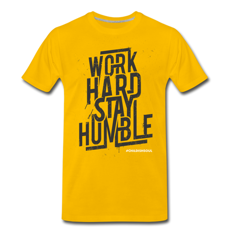 SOR WORK HARD Men's Premium T-Shirt - sun yellow