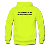 LIFE BEGINS Men's Hooded pullover - safety green