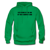 LIFE BEGINS Men's Hooded pullover - kelly green