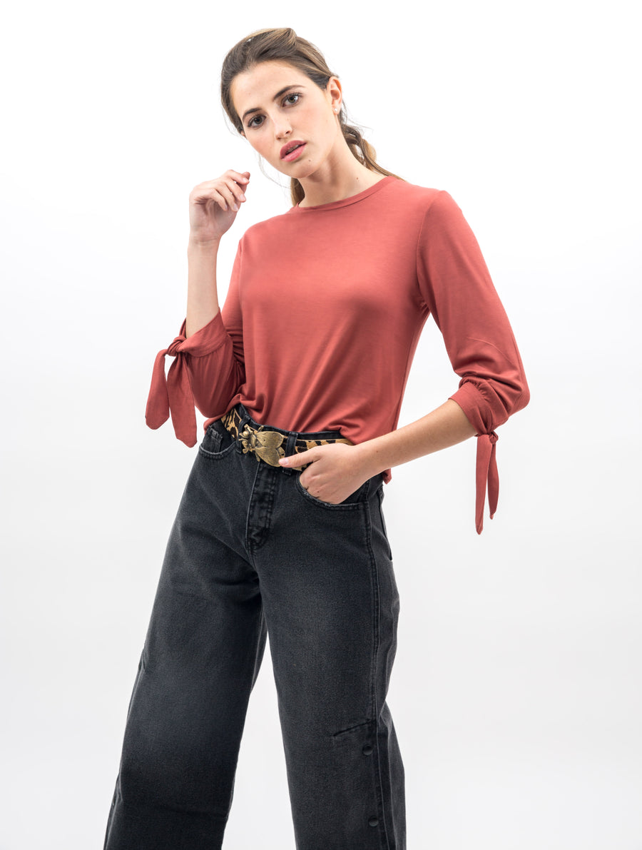 Crop top Julia terracota