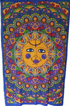 Sun Multi Colored Tapestry