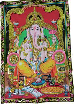 Ganesha Multi Color Tapestry