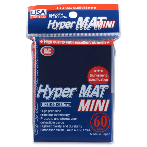 KMC Small Sleeves USA Pack Hyper Matte Blue 60-Count