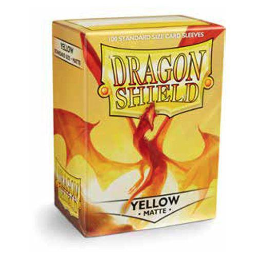 Dragon Shield Yellow Matte 100ct Sleeve pack
