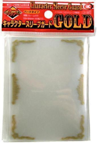 KMC Sleeves Character Guard Clear with Gold Scroll Work 60-Count