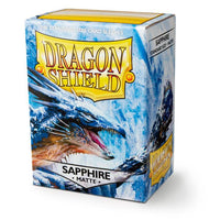 Dragon Shield Matte Sapphire 100ct Box Sleeves