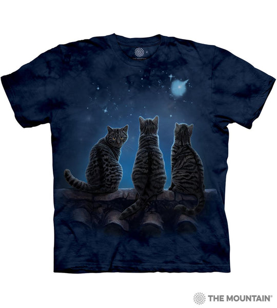 Wish Upon A Star Cat T-Shirt Small