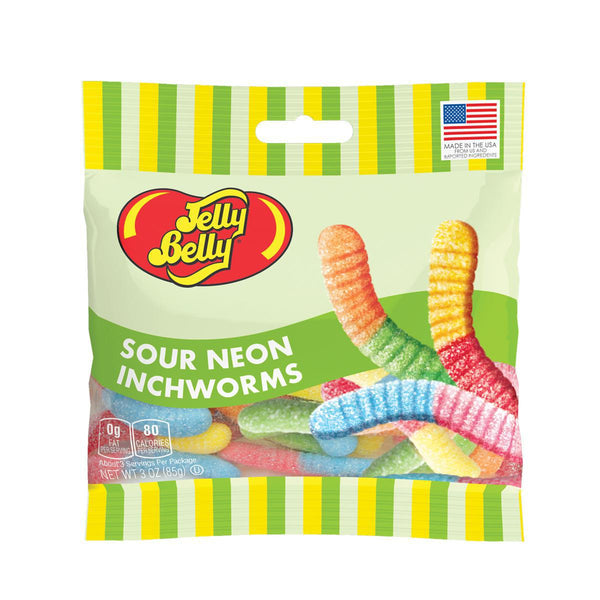 Jelly Belly Sour Neon Inchworms 3 oz bag