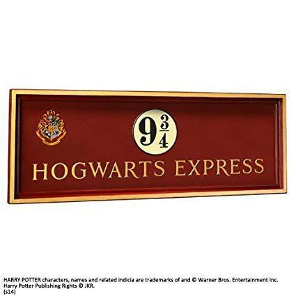 Harry Potter 9 3/4 wood sign