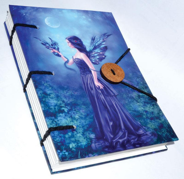 "Iridescent Fairy journal 4 1/2"" x 6 1/2"" handmade parchment"