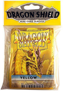 Dragon Shield 50ct Mini Card Sleeves Yellow