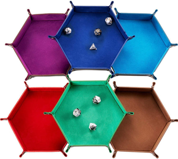 Hexagon Felt dice trays