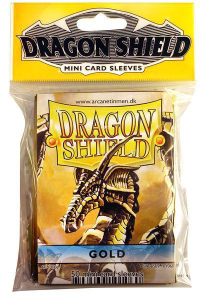 Dragon Shield 50ct Mini Sleeves Gold