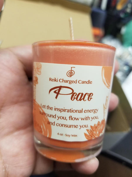 Reiki Charged Peace Votive Candle
