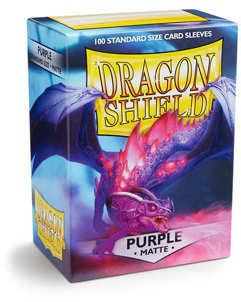 Dragon Shield Clear purple Matte 100ct Sleeves