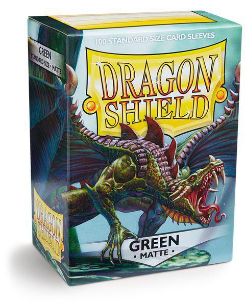 Dragon Shield Green Matte 100ct card sleeves
