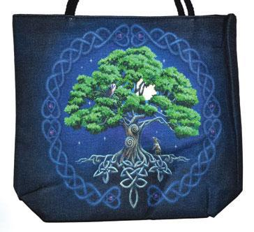 Tree of Life Jute Tote Bag