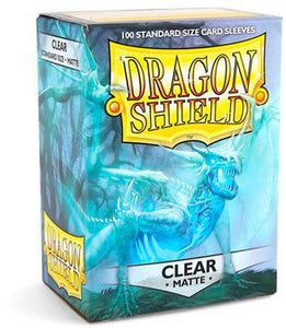 Dragon Shield Clear matte 100ct box Sleeve