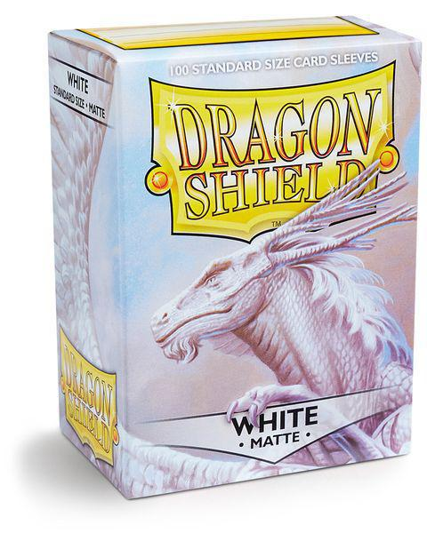 Dragon Shield White matte 100ct box Sleeves