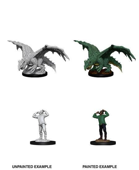 D&D Nolzur's Marvelous Miniatures Wave 11 Green Dragon Wyrmling & Afflicted Elf