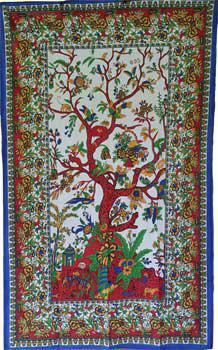 Vibrant Tree of Life Tapestry