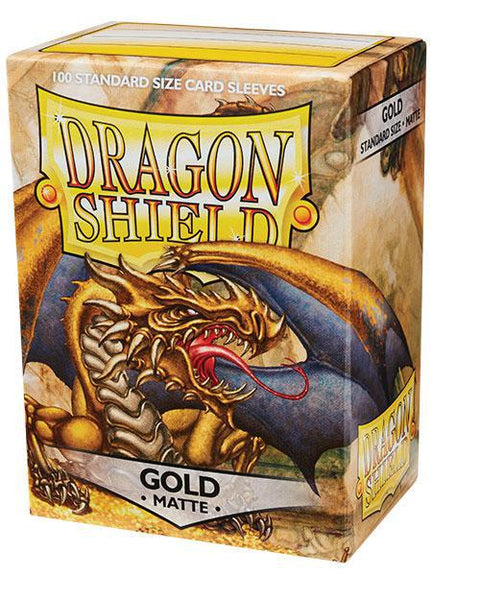 Dragon Shield Matte Gold 100ct Box Sleeves