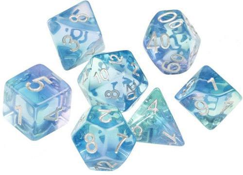Sirius Dice Frosted Glowworm 7 Die Set
