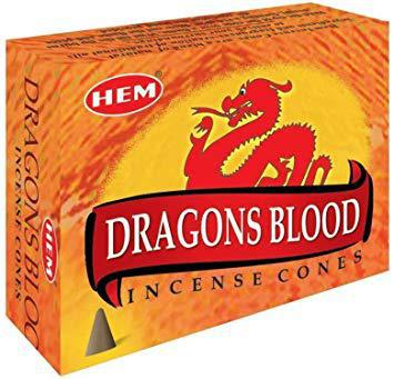 HEM Dragons Blood cone incense