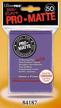 Pro Matte purple Std 50ct Sleeves