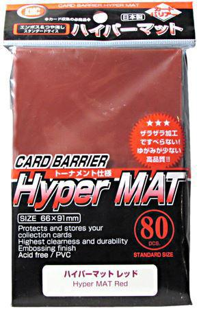 KMC Sleeves Hyper Matte Red 80-Count