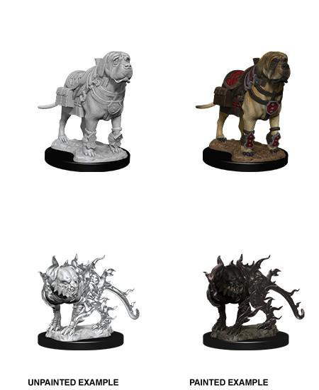 D&D Nolzur's Marvelous Miniatures Wave 11 Mastif & Shadow Mastif