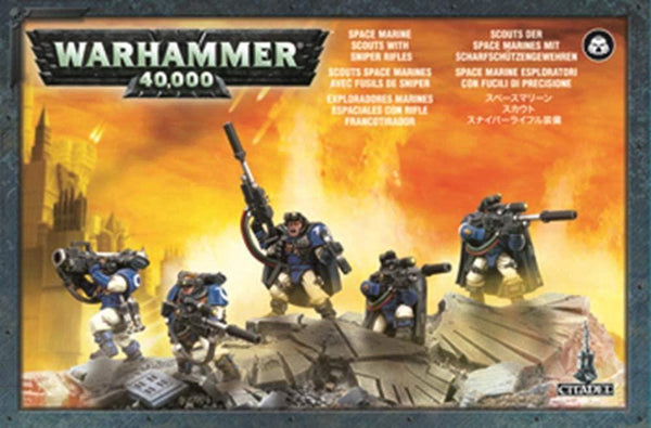 Warhammer 40K Space Marines Scouts with Sniper Rifles