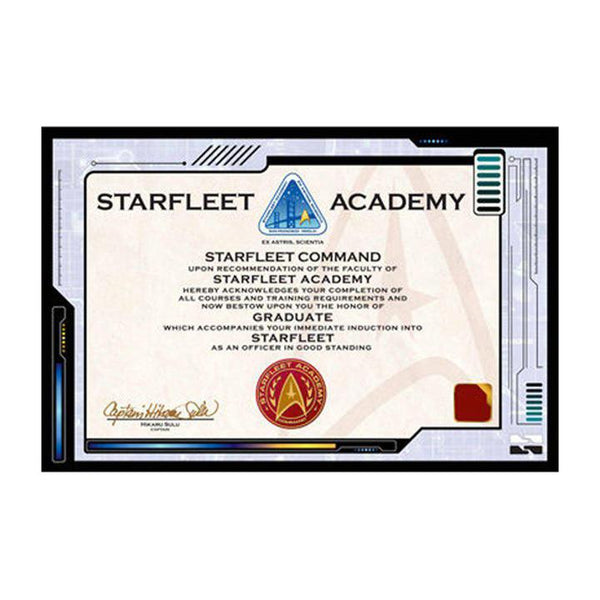Star Trek Academy Plaque