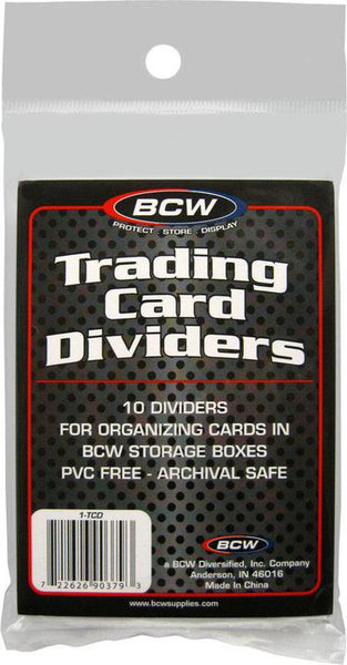 BCW Trading Card Dividers (10) pack