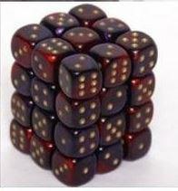 Chessex Gemini Purple/Red 16Mm D6 Dice Block