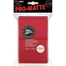 Pro Matte Red 100ct Sleeves
