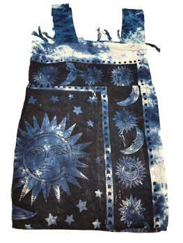 Sun and Moon Blue Curtain Pair tapestry
