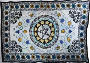 Flower Pentacle Tapestry