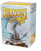 Dragon Shield Matte Silver 100ct Box Sleeves