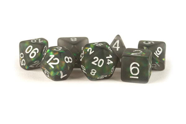 MDG Icy Opal Black 16mm Dice Set