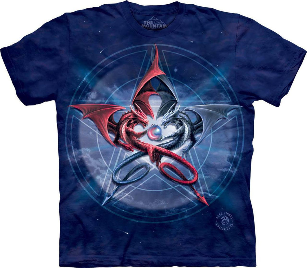 Pentagram Dragons T-Shirt Large