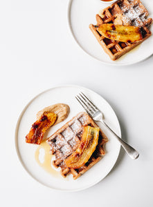 Waffles with Caramelised Banana