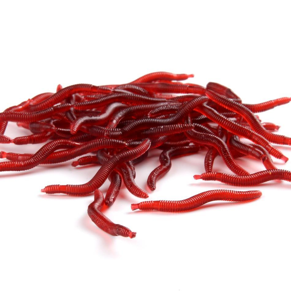 Soft Lure Red Worms