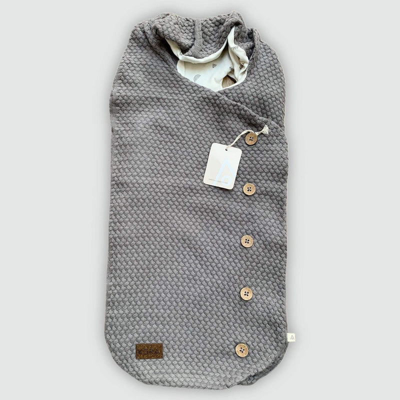 KURA Organics Organic Baby Wrap in Charcoal SAMPLE SALE