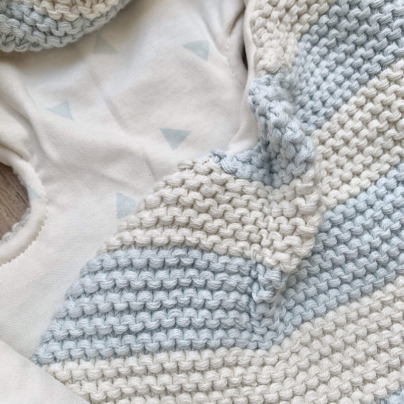 KURA Organics Organic Baby Wrap in Sky SAMPLE SALE