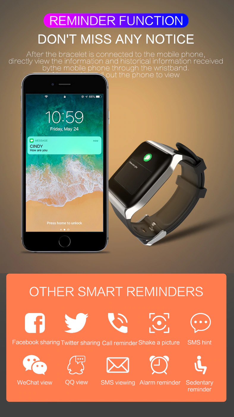KSS901 Fitness Smart Bracelet | Stigma Watches™ - Online Store